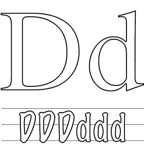 Capital F Coloring Page by Letter D That Small And Capital Letter Coloring Page