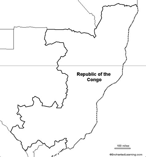 Republic Map Outline by Outline Map Republic Of The Congo Enchantedlearning