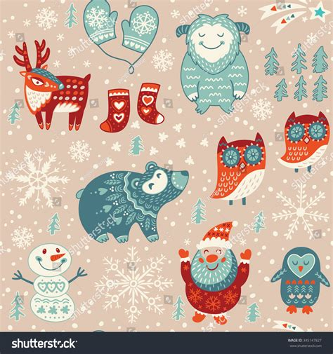 new year decorative elements winter new year decorative elements stock vector