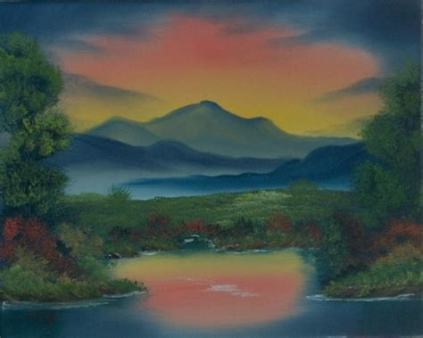 bob ross northern lights painting for sale bob ross class paintings