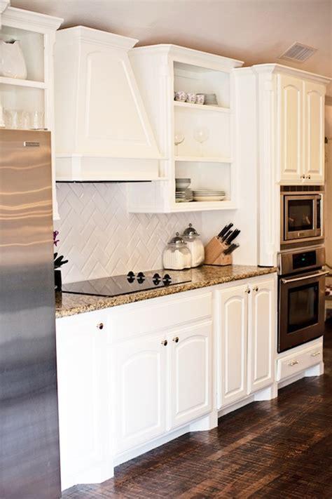 benjamin moore simply white kitchen cabinets herringbone backsplash transitional kitchen benjamin