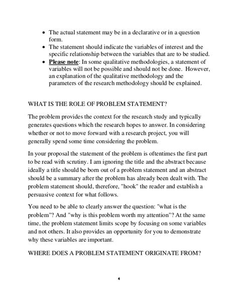how to write a problem how to write a statement problem