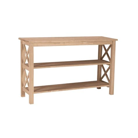 Unfinished Console Table International Concepts Hton Unfinished Console Table Ot 70s The Home Depot