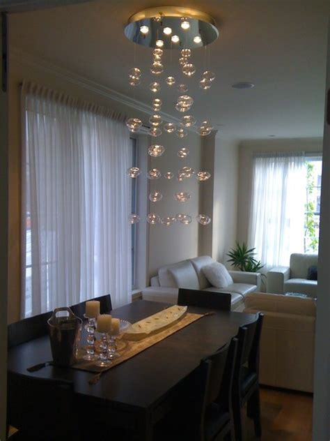bubble chandelier handblown glass