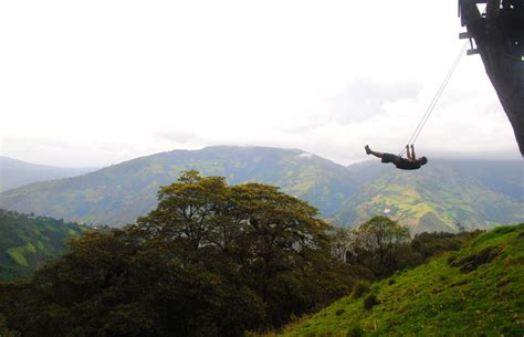 swing at the end of the world soars over tungurahua volcano
