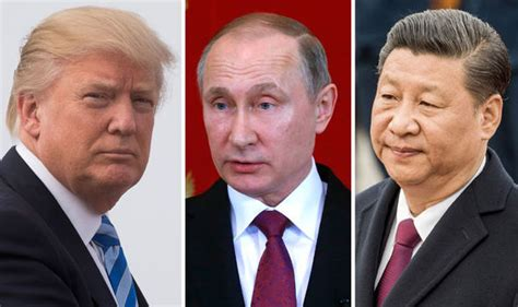 donald trump xi jinping north korea russia and china chase down us warship heading for
