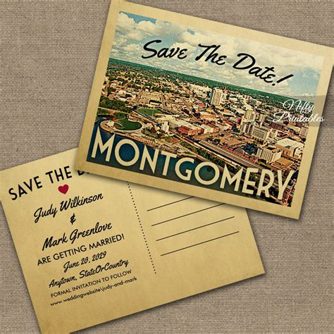 Alabama Wedding Invitations Printed by Montgomery Save The Date Printed Nifty Printables