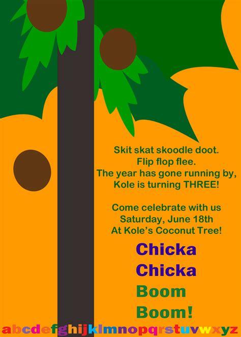 Pdf Chicka Chicka Boom Boom by Chicka Chicka Boom Boom Invitesbyme