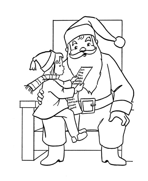 coloring pages of christmas list bluebonkers santa claus coloring pages 9