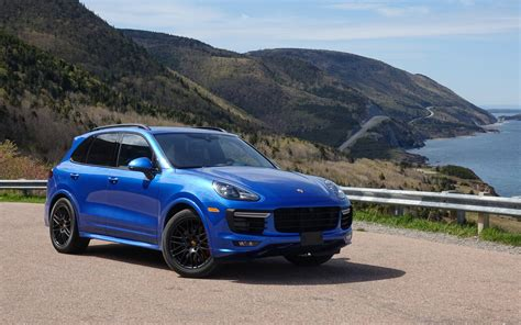 2017 porsche cayenne gts blue porsche cayenne gts and macan turbo on the cabot trail