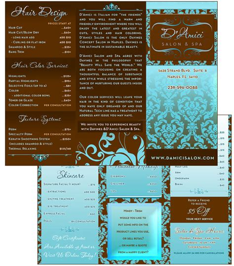 salon brochure spa brochure design mum pinterest brochures and logo