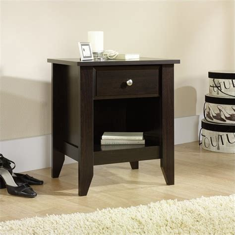 Sauder Shoal Creek Nightstand sauder shoal creek stand jamocha wood nightstand ebay