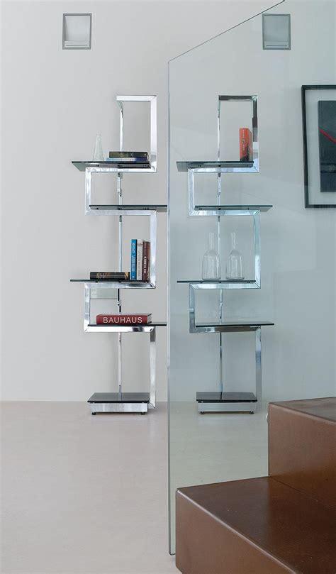 librerie in vetro heritage libreria metallo e vetro italy design