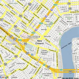 map of new orleans united states hotels accommodation