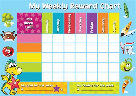 free printable reward incentive charts for teachers