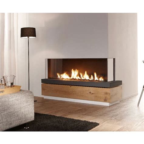 lineafire fireplaces corner 150 right wood and gas