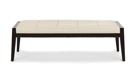 white upholstered bench contemporary upholstered bench leather white ascari