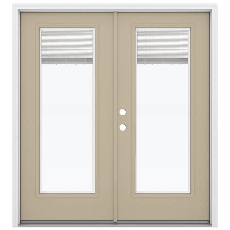 Fiberglass Patio Door Shop Reliabilt 71 5 In Blinds Between The Glass Fiberglass Inswing Patio Door At Lowes