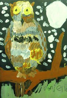 Ripped Paper Owl Rockabye Butterfly Paper Owls - space sparkle lessons for owl paintings for