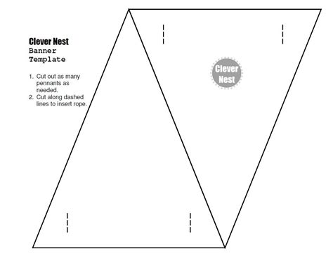 bunting template clever nest blowing the cover on bunting template