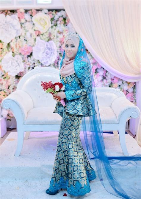 design gaun songket malay songket wedding dress with simple detailings