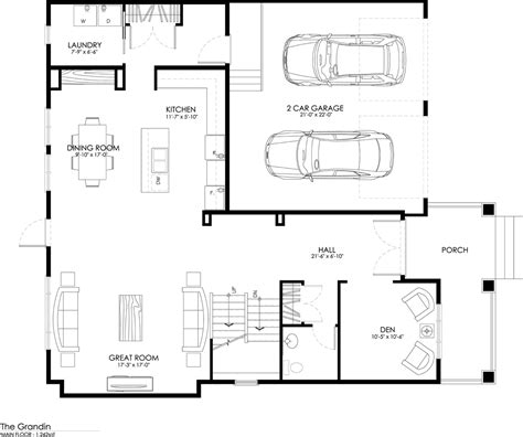 Main Floor Plans by Grandin Explorer Discovery Homes