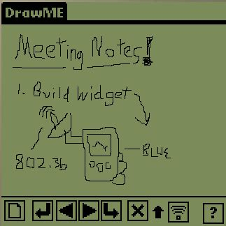 digital ink notepad drawme palm sticky note