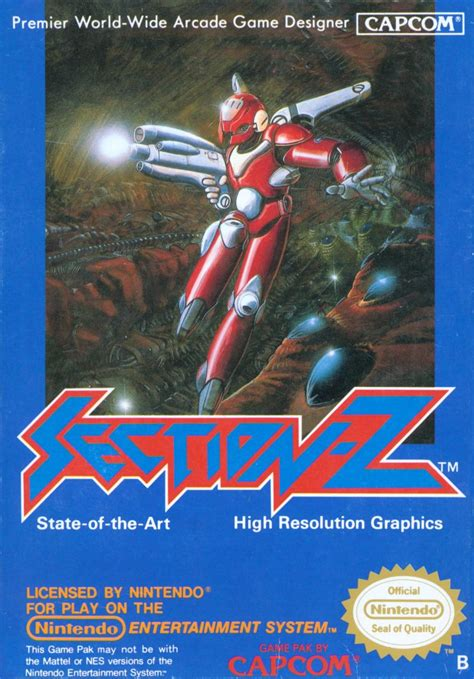 Section Z by Section Z 1987 Nes Box Cover Mobygames
