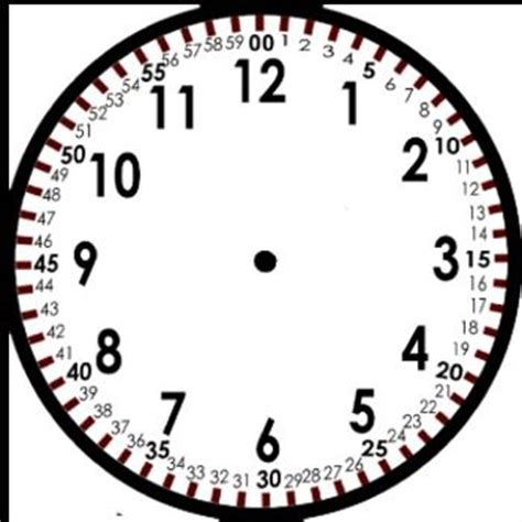 printable clock with hours and minutes free blank clock template blog post discusses teaching