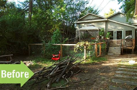 backyard homestead before after a new backyard for an urban homestead