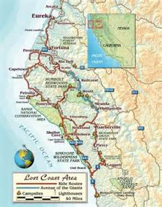 lost coast california map ca the lost coast highway cliff hugging from ferndale to