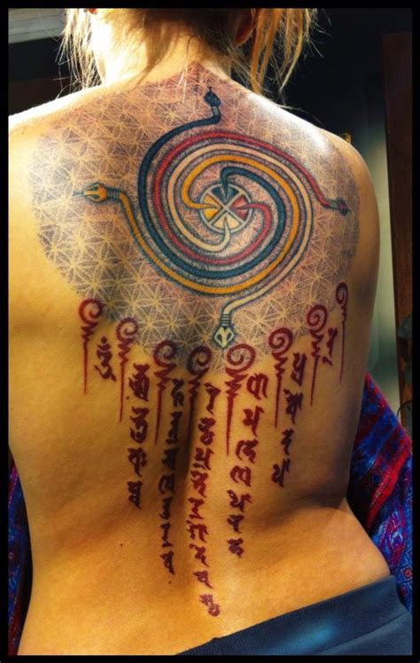shiva and sanskrit mantra tattoo