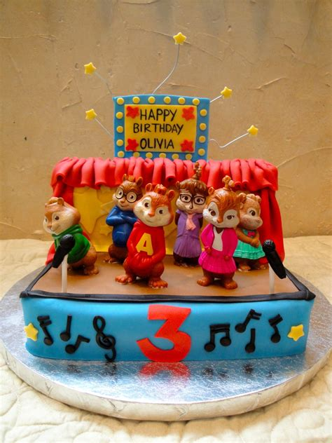 50th Birthday Party Ideas Decorations Alvin And The Chipmunks With The Chippettes Cakecentral Com