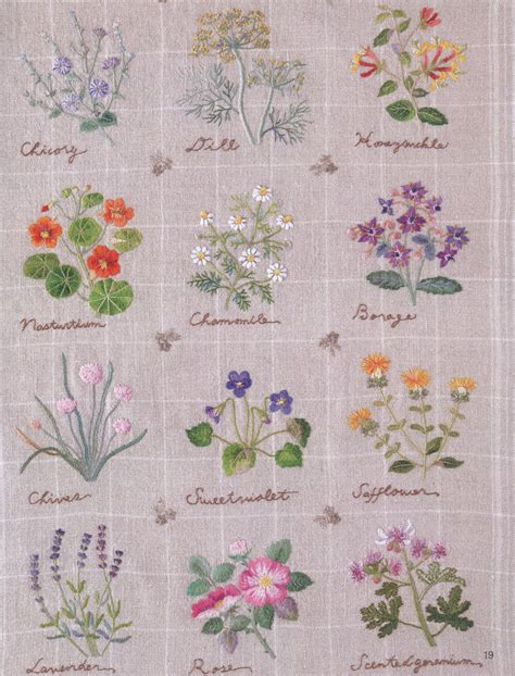 japanese embroidery pattern book embroidery patterns botanical herb embroidery japanese