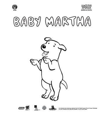 Gamis Syari Martha martha speaks coloring pages coloring page