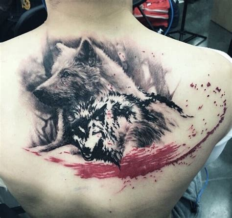 fallen angel tattoo kissimmee take of two wolves by fallen sparrow owner legion avegno