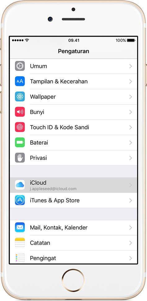cara membuat cadangan icloud cara mencadangkan iphone ipad dan ipod touch apple support