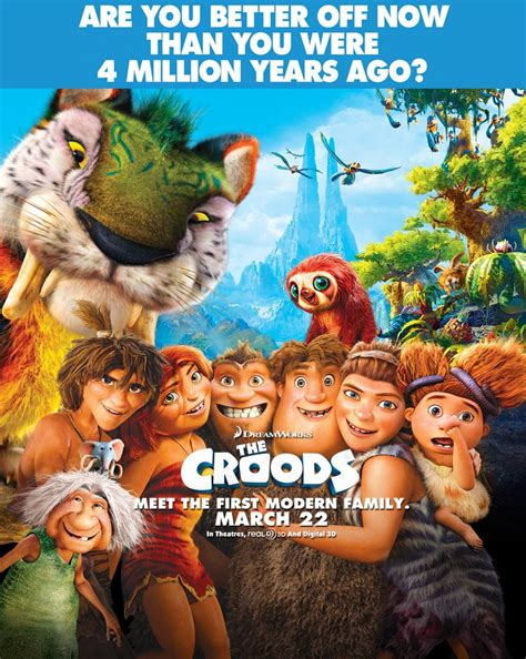 film cartoon croods colourful new poster for dreamworks animation s the croods