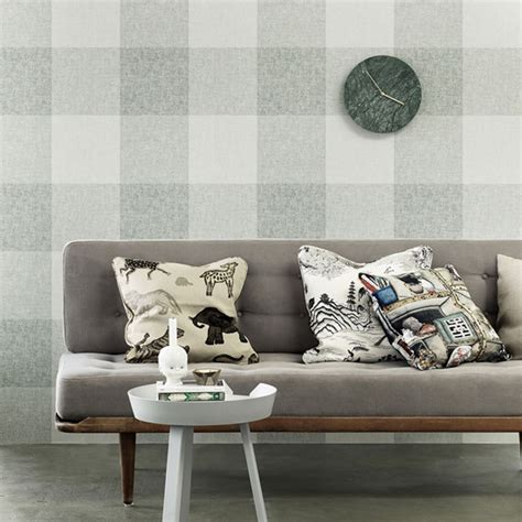 grey gingham wallpaper check wallpaper from gingham to plaid ideal home