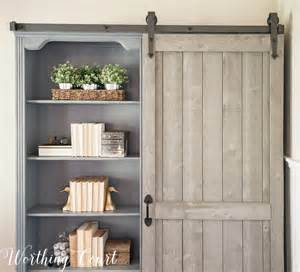 barn bookcase bookcase makeover traditional cherry to farmhouse fab