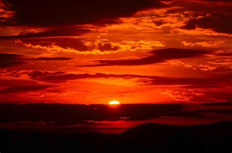 sunset orange free photo sunset red sky fiery orange free image