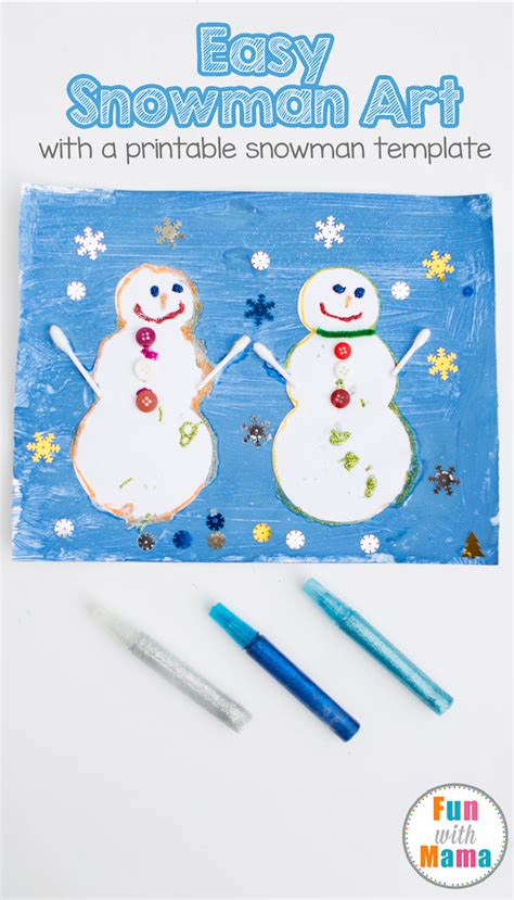 snowman dress up busy bag fun with mama easy open ended art snowman craft painting fun with mama