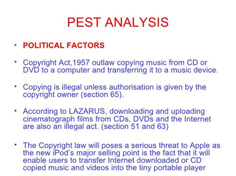 copyright act section 63 situation anlysis of ipod