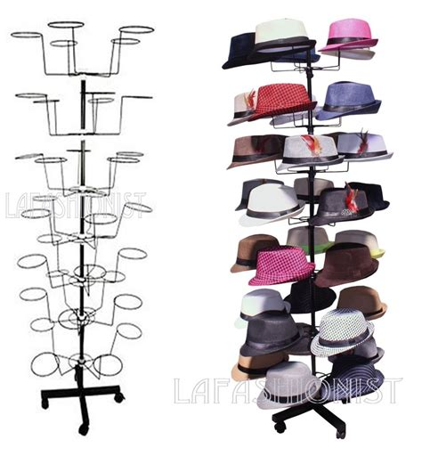 Retail Hat Rack hat cap display retail hat cap rack rotating spinner metal stand floor ebay