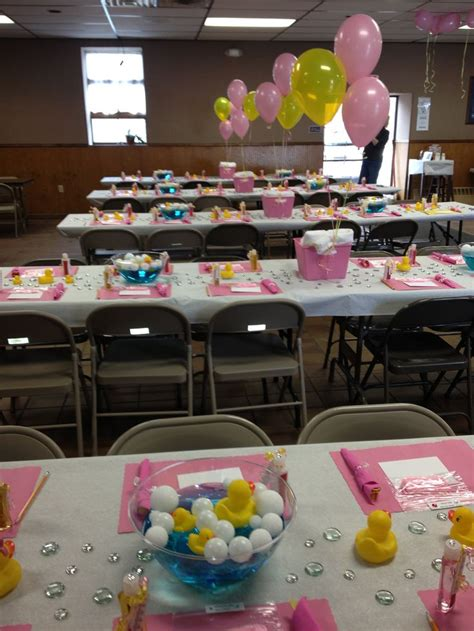 rubber ducky baby shower table decor baby shower table decoration ducks pink yellow baby