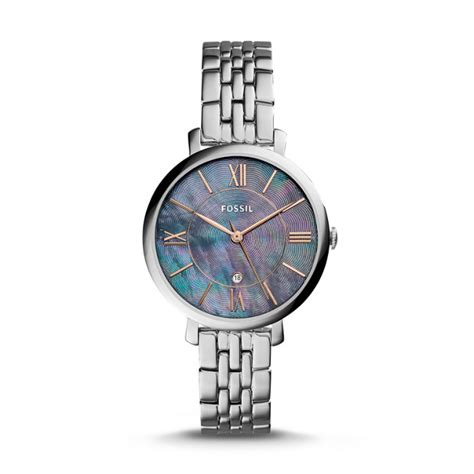 Fossil S Jacqueline Es4273 jacqueline three date stainless steel fossil