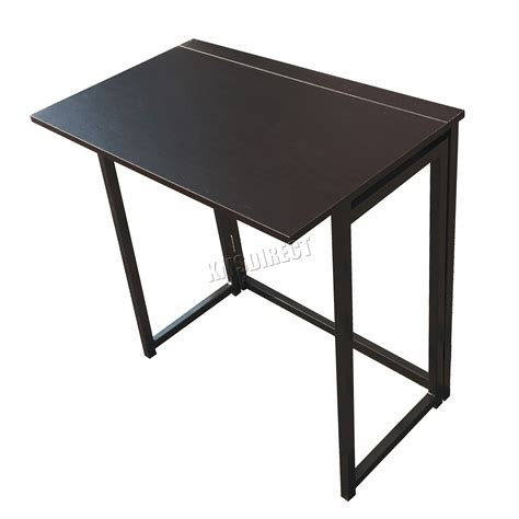 Folding Laptop Desk foxhunter foldable computer desk folding laptop pc table home office cd03 black ebay