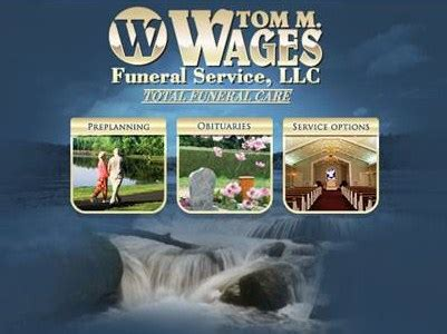tom m wages funeral services llc funeral home