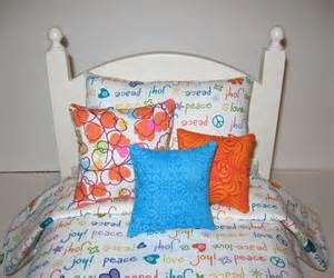 american doll bedding in white teal orange by bosboutique