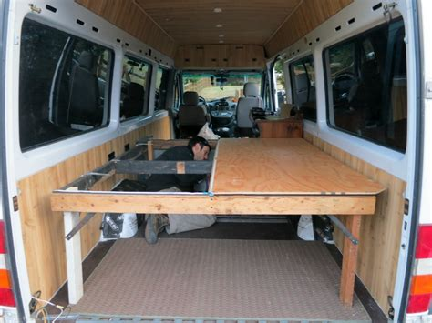 Rv Bed Frame Turns Age Home Sprinter Into Dirtbag Dwelling